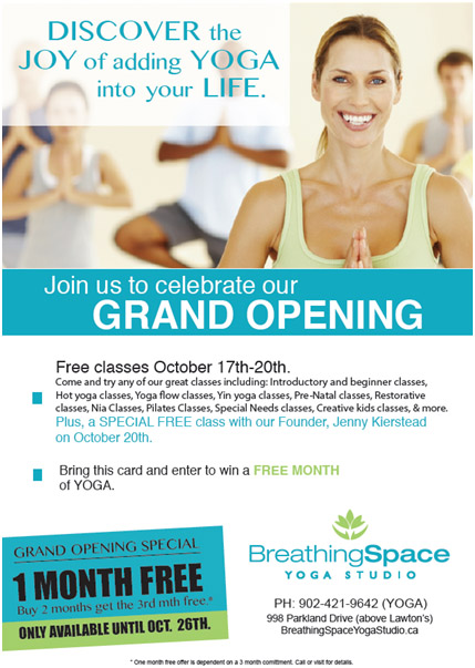 Breathing Spaces Grand Opening